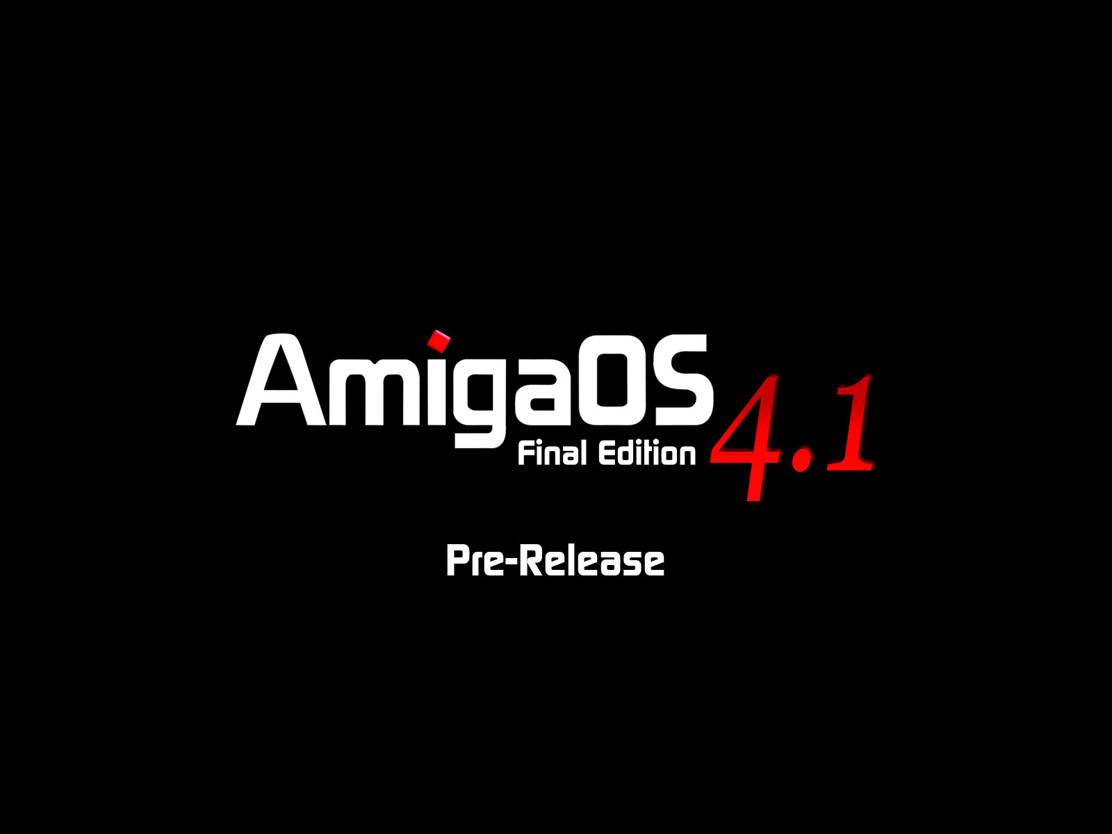 AmigaOS pre-release boot screen